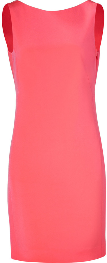 Akris Fluo Pink Silk Backless Dress