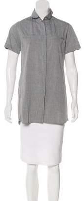 Rag & Bone Short Sleeve Button-Up Top