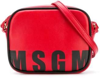 MSGM logo printed cross-body bag