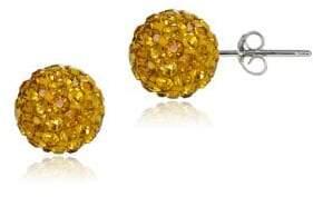 Lord & Taylor Sterling Silver Fireball Stud Earrings