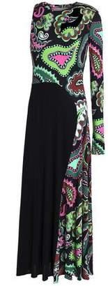 Emilio Pucci Cutout Printed Stretch-Jersey Midi Dress