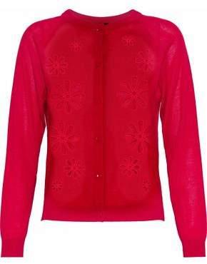 Simone Rocha Cutout Merino Wool Silk And Cashmere-Blend Cardigan