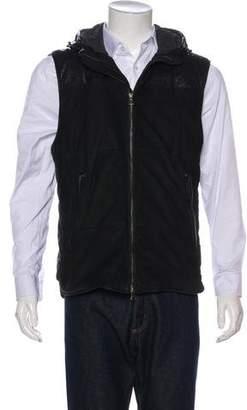 Vince Hooded Leather Vest
