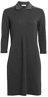 Fabiana Filippi Women's Lurex Collar Long-Sleeve Knit Dress