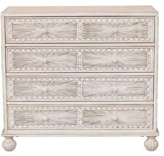 Mistana Stevens Traditional Hand Painted 4 Drawer Accent Chest