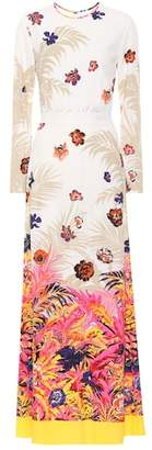 MSGM Floral-printed maxi dress
