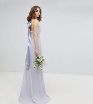 TFNC Tall Tall Bow Back Pleated Maxi Bridesmaid Dress