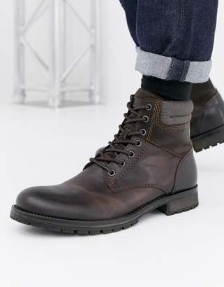 Jack and Jones leather boot