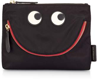 Anya Hindmarch Black Nylon Happy Eyes Pouch