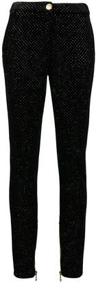 Balmain rhinestone embellished trousers