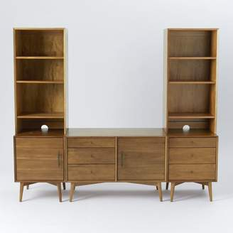 west elm Media Set - 1 Small Console, 1 Tower with 3-Drawer Base, 1 Tower with 1-Door Base