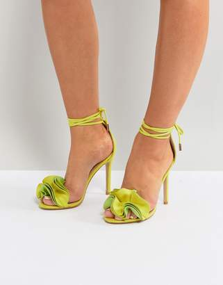 Public Desire Sugar Lime Heeled Sandals