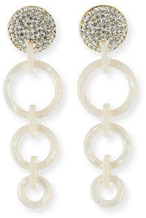 Lele Sadoughi Wind Chime Hoop-Drop Earrings