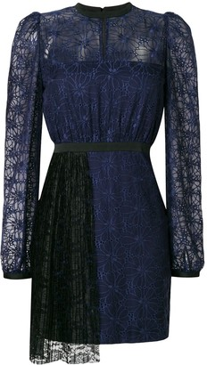 Three floor Mercredi dress with pleated front detail