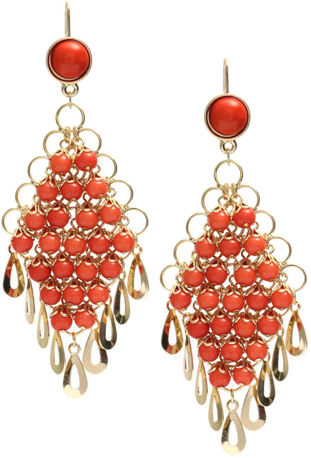 ASOS Vintage Multi Bead Drop Earring (+)