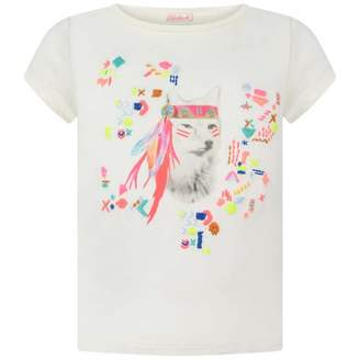 Billieblush BillieblushGirls Ivory Dog Print Top & Tote Bag Set