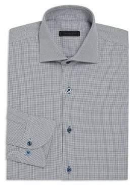 Saks Fifth Avenue COLLECTION Basket Design Regular-Fit Dress Shirt