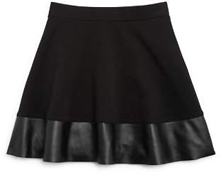 Aqua Girls' Skirt with Faux-Leather Trim, Big Kid - 100% Exclusive