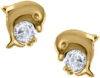 Mignonette Gold Dolphin Earrings