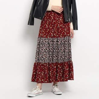 Dessin (デッサン) - Dessin(Ladies) 【洗える】フラワープリントマキシスカート