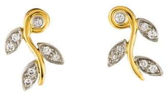 Tiffany & Co. Platinum 18K Diamond Garland Earrings yellow Platinum 18K Diamond Garland Earrings