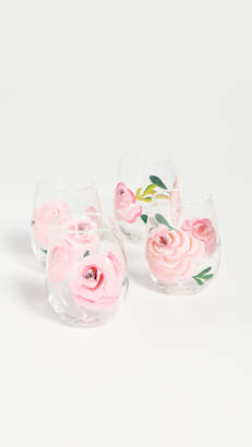 Shopbop @Home Set of 4 Rose Wine Glasses