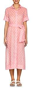 Lisa Marie Fernandez Women's Dotted Cotton Voile Shirtdress - Pink