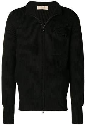 Maison Flaneur ribbed zip sweater