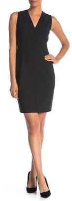 Elie Tahari Roanna V-Neck Sleeveless Dress