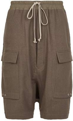 Rick Owens Wool Cargo Shorts