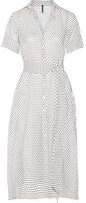 Lisa Marie Fernandez - Polka-dot Cotton-voile Midi Dress - White $595 thestylecure.com