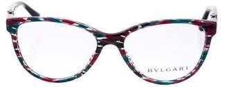 Bvlgari Stripe Acetate Eyeglasses
