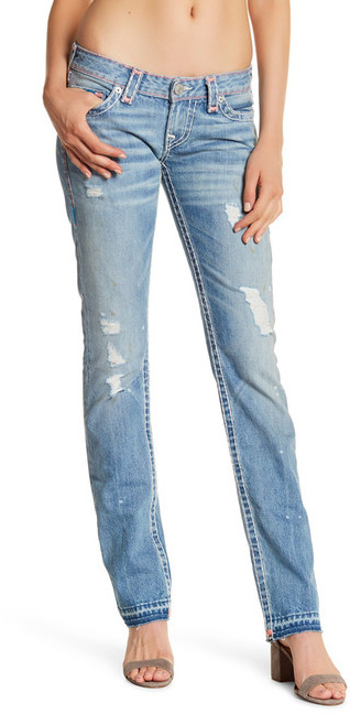 True Religion Billie Released Hem Super T Straight Jean