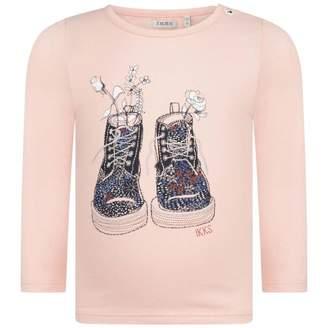 Ikks IKKSBaby Girls Pink Boots Print Top