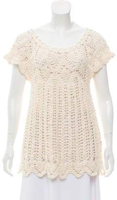 Calypso Crochet Knit Tunic Top