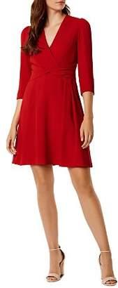 Karen Millen Twist Detail Fit-and-Flare Dress