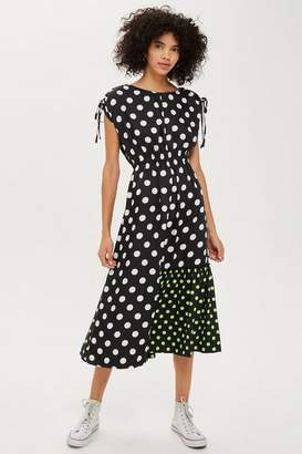 Topshop **Mixed Spot Print Skater Dress by Boutique