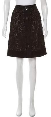 J. Mendel Suede Knee-Length Skirt