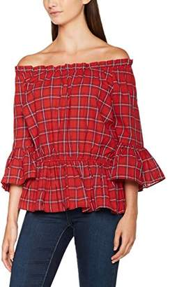 ... New Look Women's Waisted Check T-Shirt