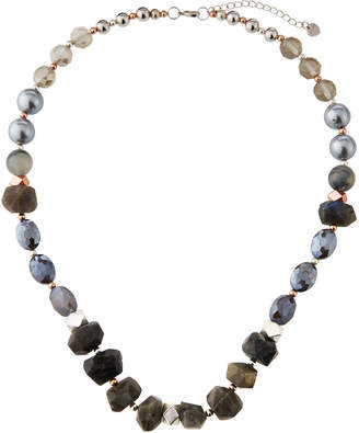 Nakamol Labradorite & Pearly Glass Necklace