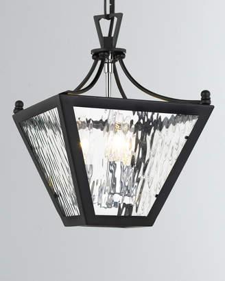 Park Hill 3-Light Matte Black and Polished Chrome Mini Lantern