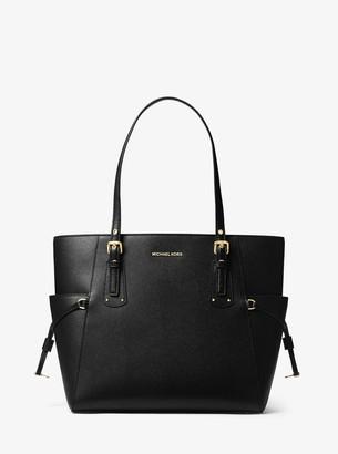 MICHAEL Michael Kors Voyager Small Crossgrain Leather Tote Bag