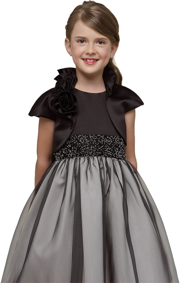 Us Angels Cap Sleeve Satin Bolero (Baby Girls, Toddler Girls, Little Girls & Big Girls)