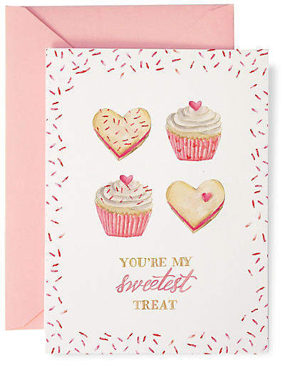 Set of 8 Sweetest Treat Valentine's Card Note Cards