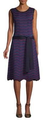 Carolina Herrera Textured Knitted A-Line Dress