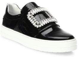 Roger Vivier Sneaky Viv Embellished Patent Leather Skate Sneakers
