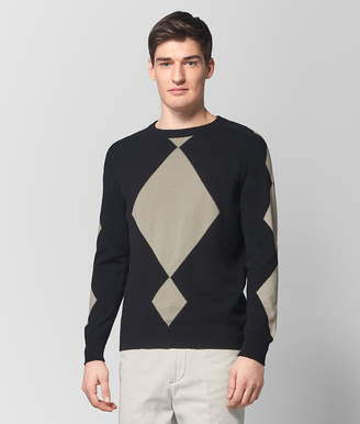 Bottega Veneta NERO/CEMENT CASHMERE SWEATER