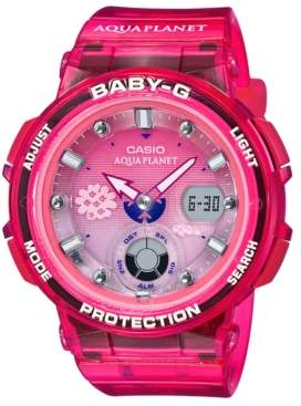 Baby-G Baby G Women's Analog-Digital Aqua Planet Pink Resin Strap Watch 41mm, A Limited Edition