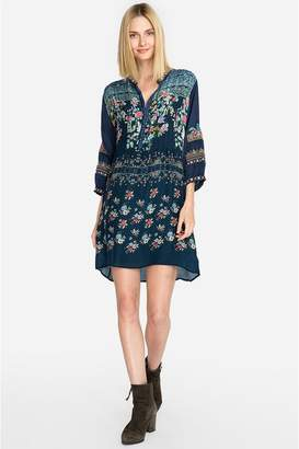 Johnny Was Dotted Bouquet Tunic Dress