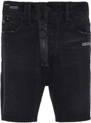 Off-White Denim Slim-Leg Shorts